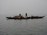 Fischerboote auf dem Kaptai Lake