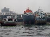 Schiffe auf dem Trocknen