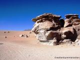 Von Wind und Wetter geformte Felsen