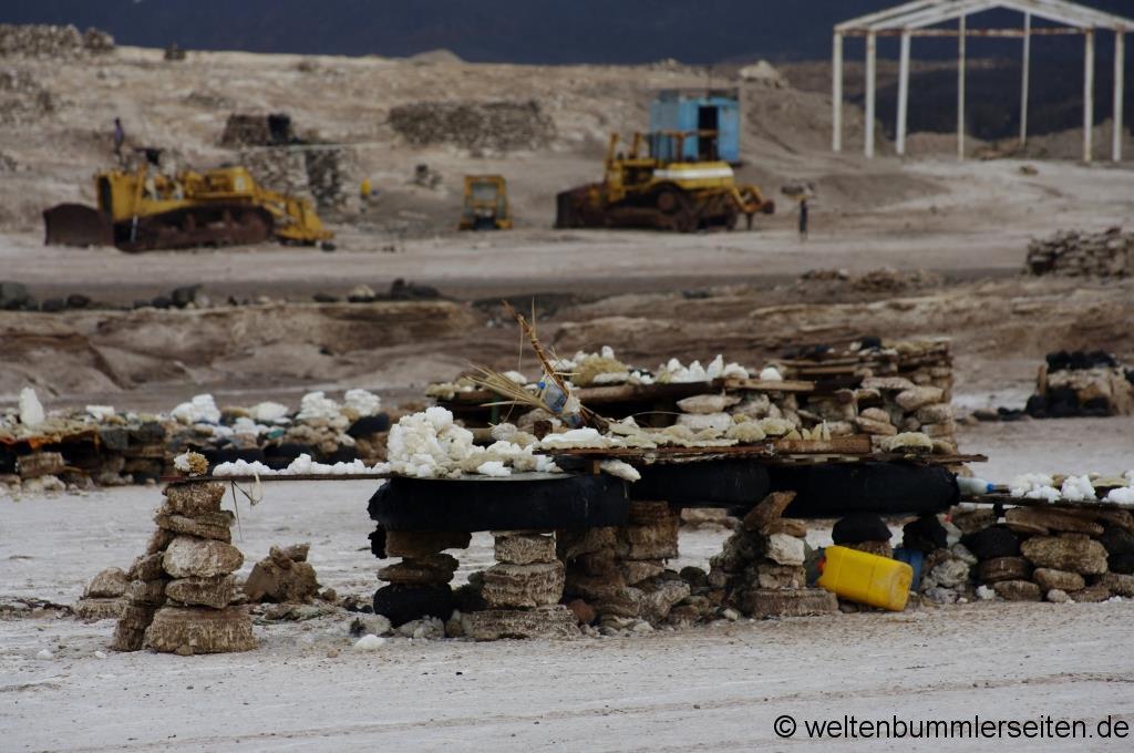 Salz aus dem Lake Assal