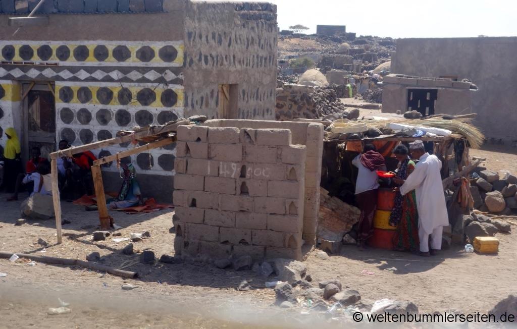 Grenzdorf in Dschibuti