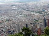 Bogota Blick  vom Cerro de Monserrate