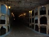 Im Weinkeller - Gasse mit Flaschenhaeusern