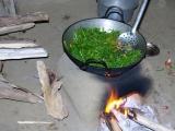 zuerst wird das Gemüse zubereitet