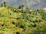 Dorf im Gebirge