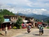 Strasse in einem Dorf
