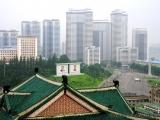 Blick vom Balkon des Studienpalastes ueber die Stadt