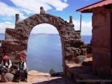 Taquile - Blick auf den Titicacasee