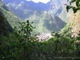 Blick ins Tal auf Aguas Calientas