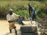 Arbeiter in einer Diamantenmine
