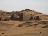 Blick auf Meroe von den Sandduenen