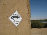 Warnung vor dem Nilkrokodil