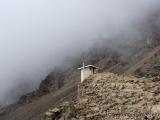 Toilettenhaeuschen am Abgrund im Barafu Camp