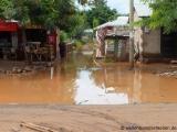 Ueberschwemmtes Dorf