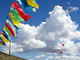 Gebetszettel im Wind