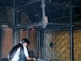 Kueche in einem Hmong-Haus