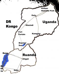 Uganda - Ruanda - DR Kongo