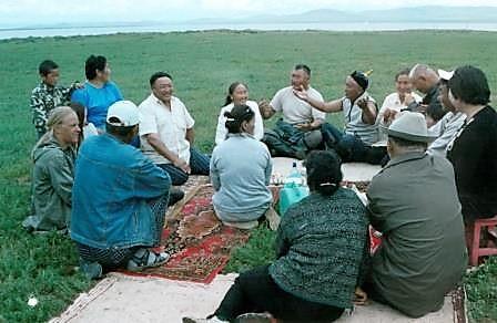 Nomadenfamilie-in-der-Gobi