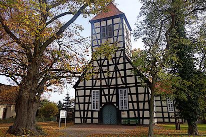 Fachwerkkirche in Luckow