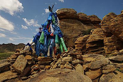 Mongolei-Nomaden-Opferplatz