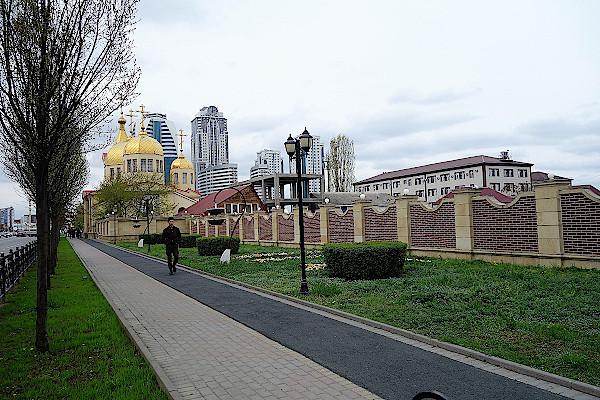 Putin-Magistrale-Grosny-Tschetschenien