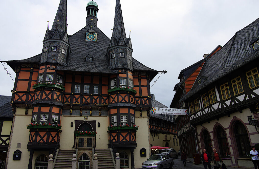 Rathaus von Wernigerode-in-Sachsen-Anhalt