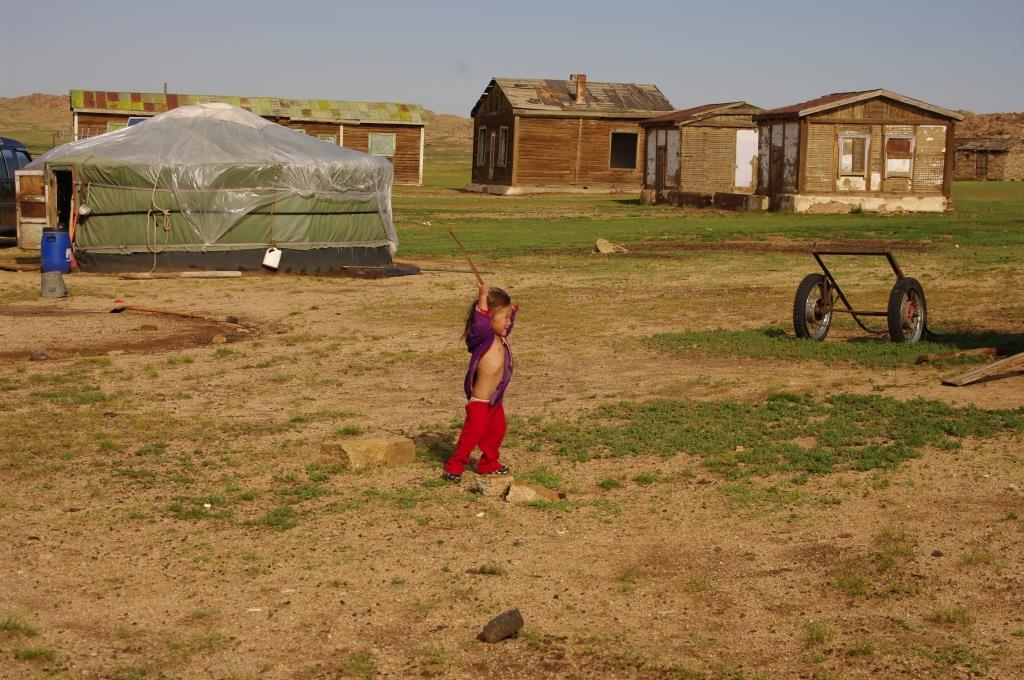Nomaden-in-der-Mongolei