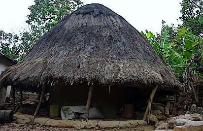 Huette-in-einem-Dorf-der-Peulh