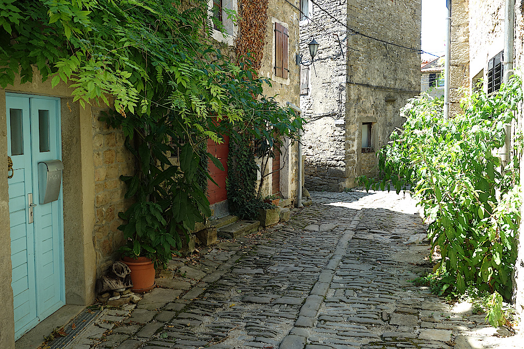 Groznjan-in-Kroatien