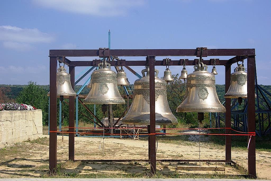 Glocken-des-Klosters-Hincu-Moldawien