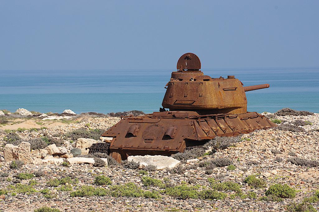 Sowjetischer Panzer aus der Zeit des Kalten Krieges