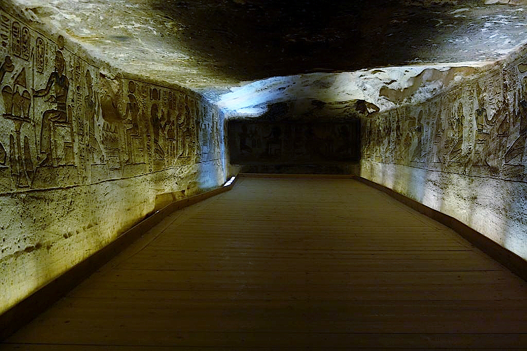 Im Großen Tempel zum Ruhm Ramses II.