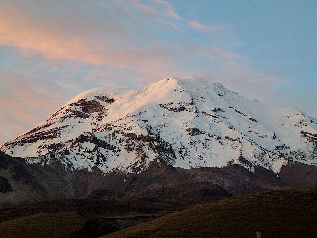 Ecuador-Chimborazo-Abendsonne
