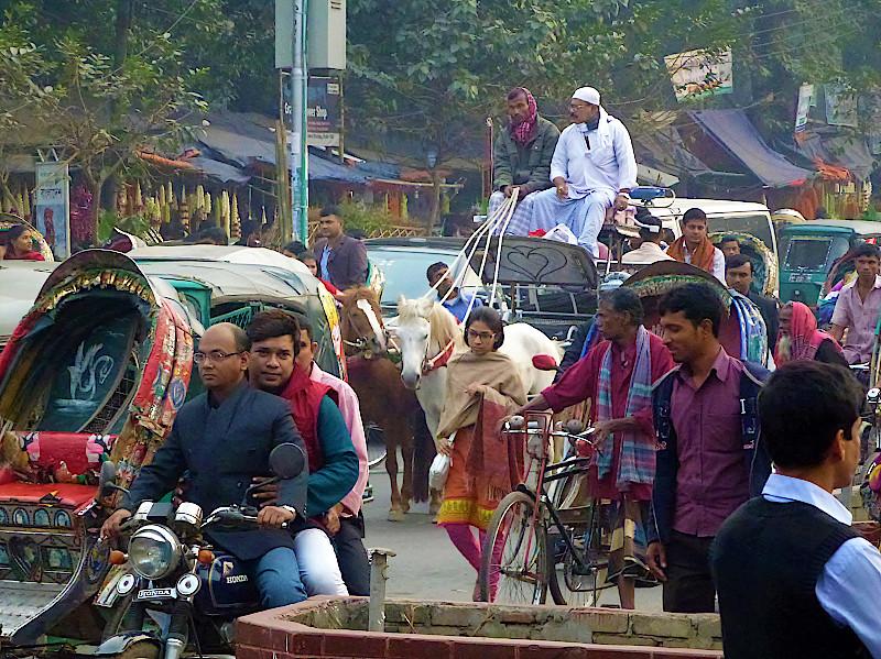 In den Straßen von Dhaka