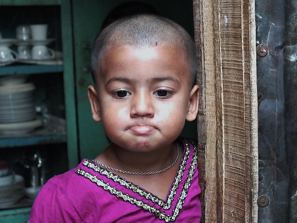Bangladesch-Dhaka-Slumbewohnerin