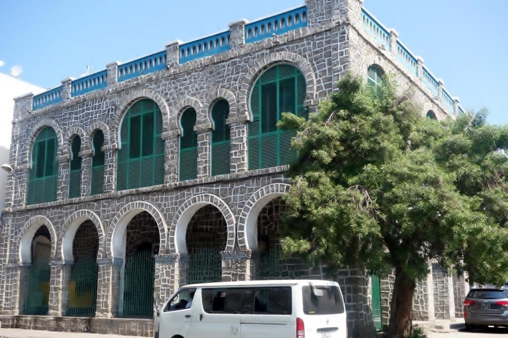 Dschibuti-Stadt-Haus im maurischen Stil