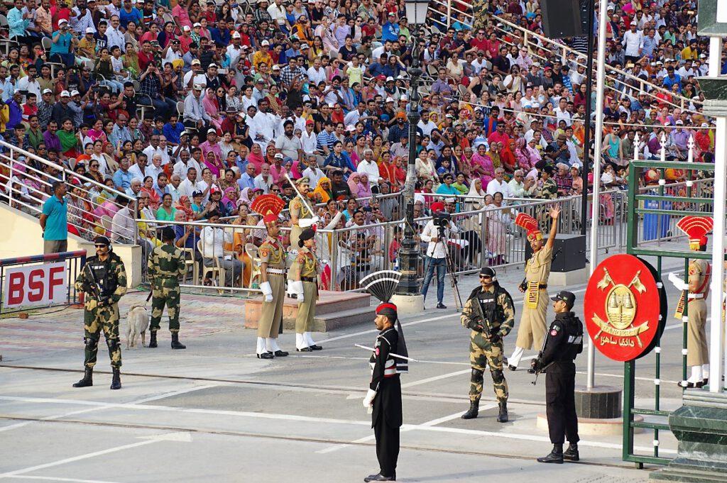 Pakistan-Wagah-Flaggenzeremonie