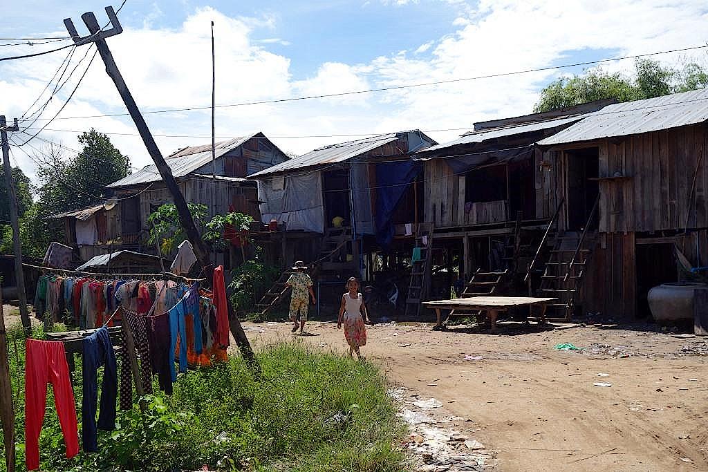 Dorf-in-Kambodscha