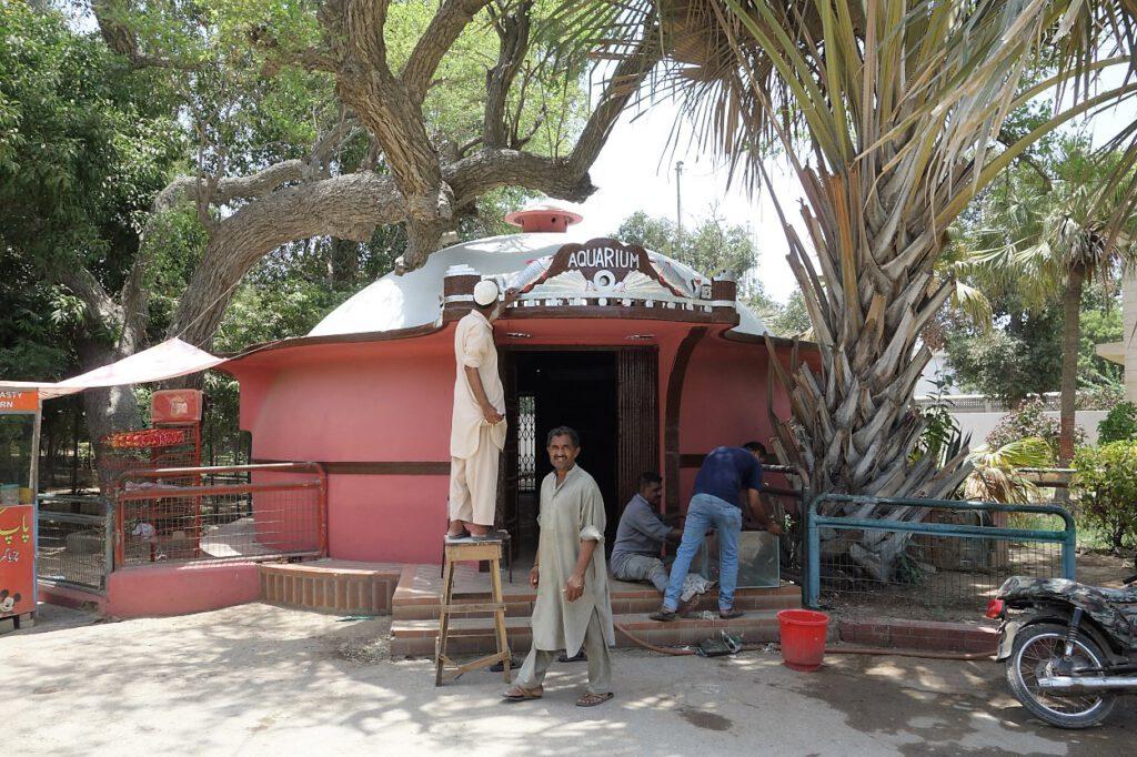 Aquarium-im-Zoo-von-Karachi-Pakistan