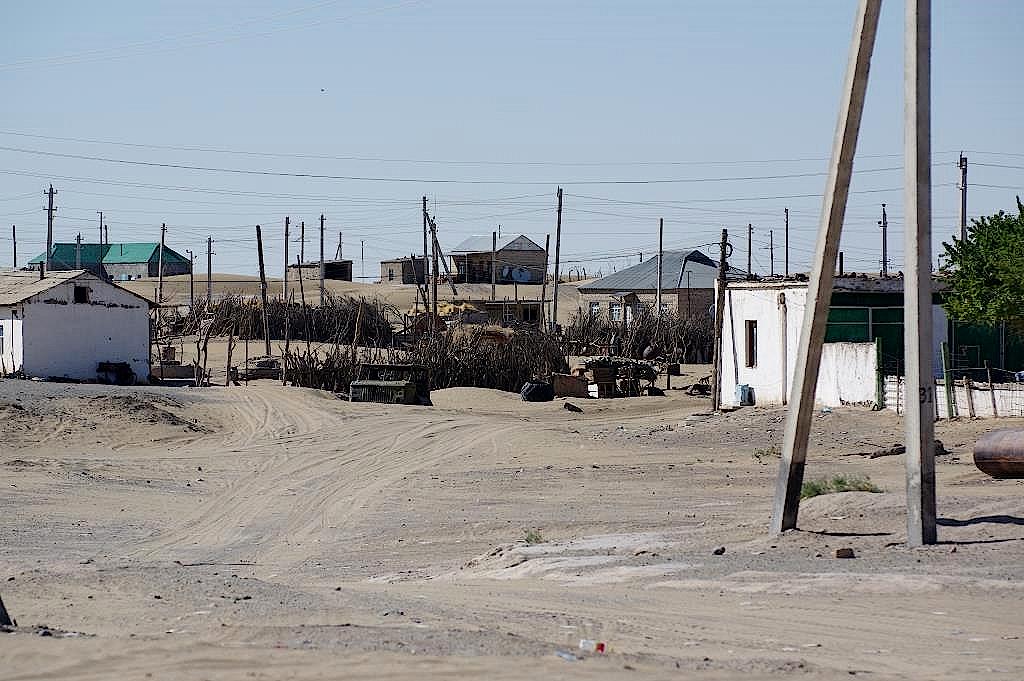 Dorf-in-der-Karakum-Turkmenistan