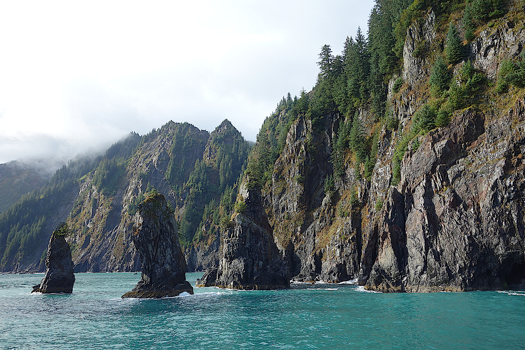 Felsnadeln-im-Kenai-Fjords-Nationalpark-Alaska