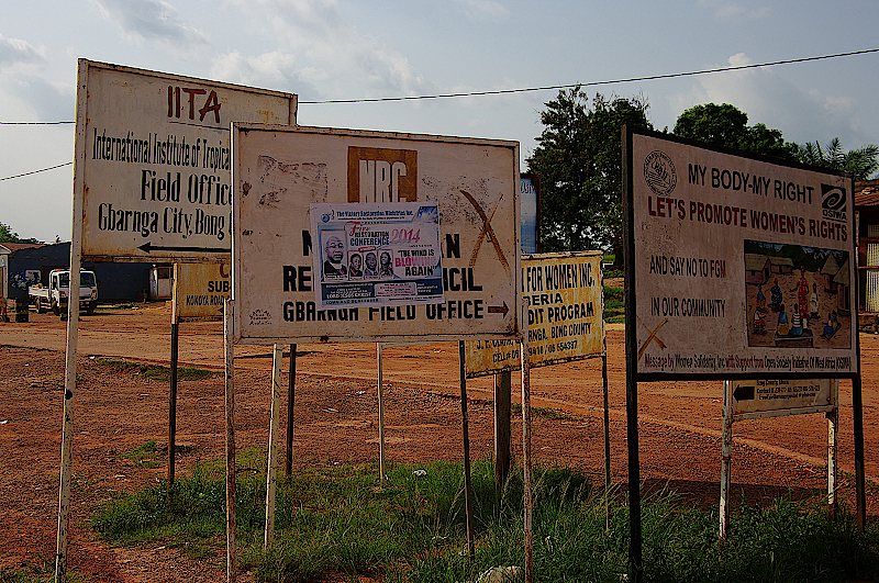 Willkommen im Schilderwald Liberias