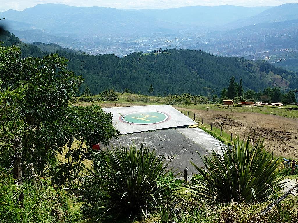 Hubschrauberlandeplatz-in-L-Catedral -Kolumbien