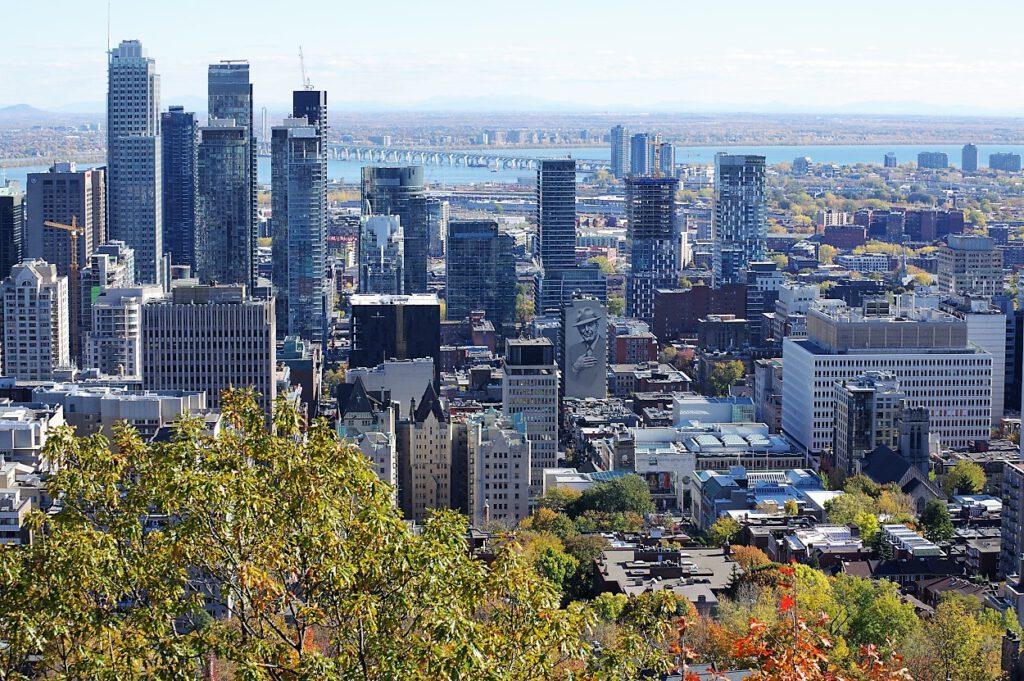 Blick vom Mont Royal auf Montreal