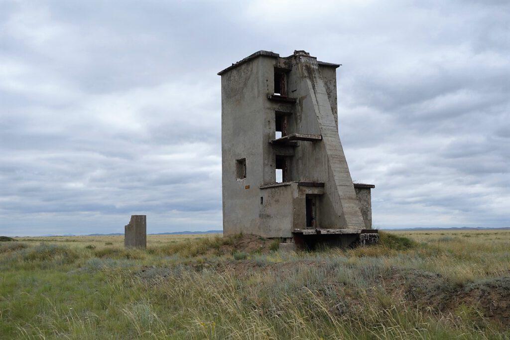 Ruinen-auf-dem-Polygon-Kasachstan