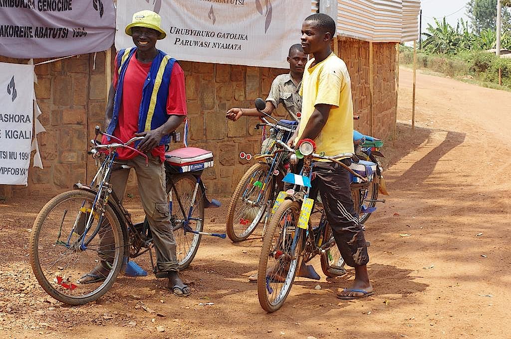 Ruanda-Fahrradtaxi