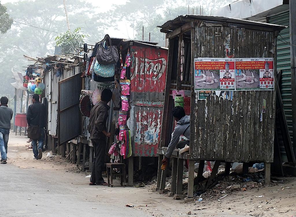 Ladenzeile in Sonargaon