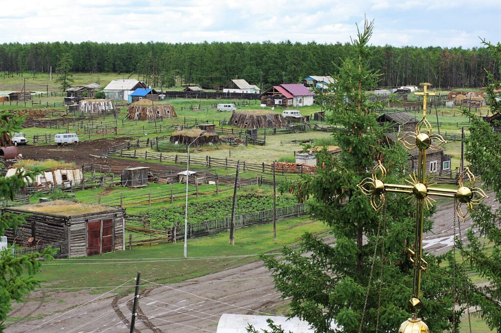 Taiga-Siedlung-Sibirien