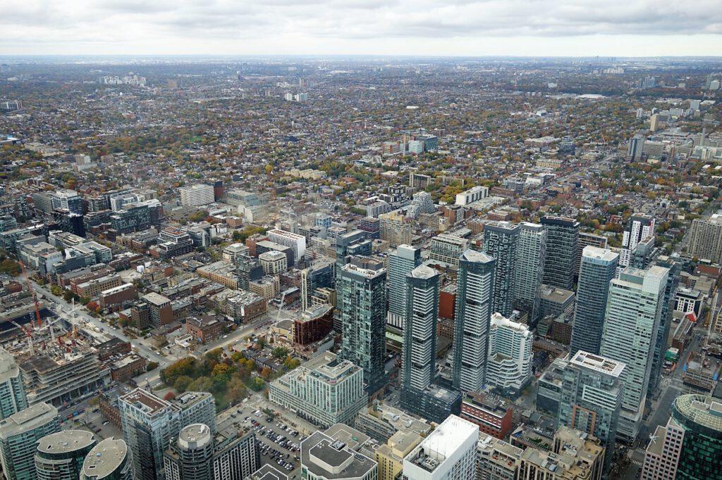Blick auf Toronto vom CN-Tower