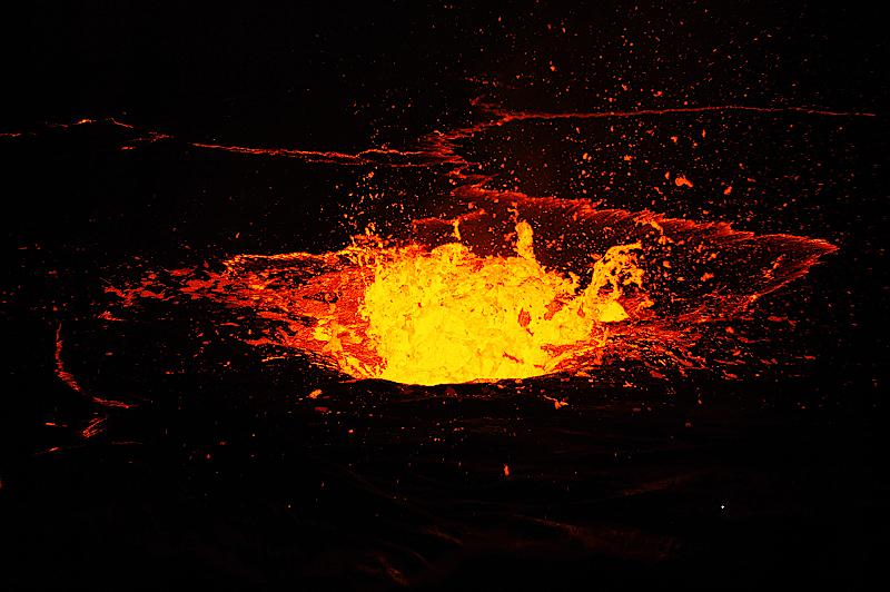 Eruption im Erta Ale